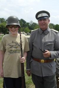 With a German Officer
